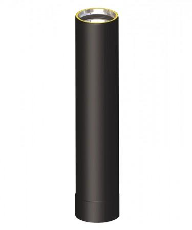 Canna fumaria coibentata acciaio nero - Tubo 50 cm