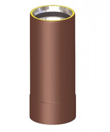 Canna fumaria coibentata acciaio marrone - Tubo 25 cm