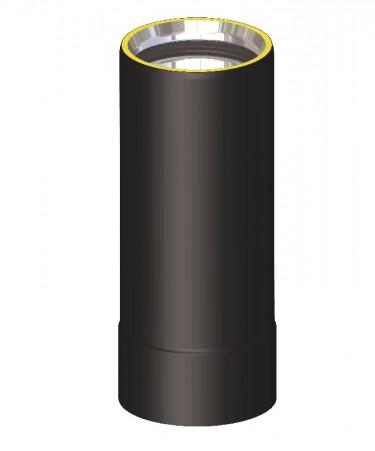 Canna fumaria coibentata acciaio nero - Tubo 25 cm
