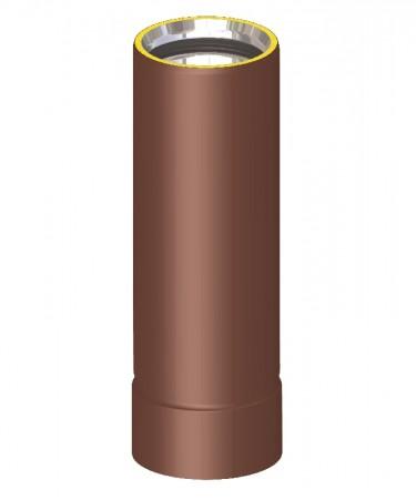Canna fumaria coibentata acciaio marrone - Tubo telescopico 30 cm / 43 cm
