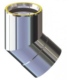 Canna fumaria coibentata acciaio - Curva 45°