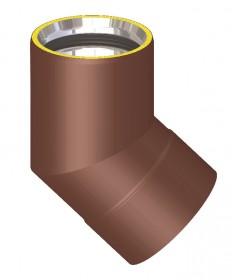 Canna fumaria coibentata acciaio marrone - Curva 45°