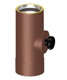 Canna fumaria coibentata acciaio marrone - Elemento di ispezione