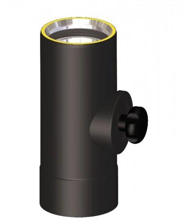 Canna fumaria coibentata acciaio nero - Elemento di ispezione