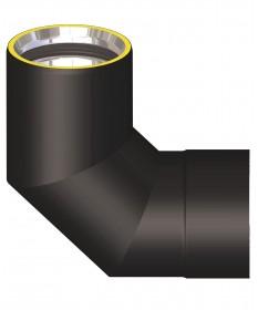 Canna fumaria coibentata acciaio nero - Curva 90°