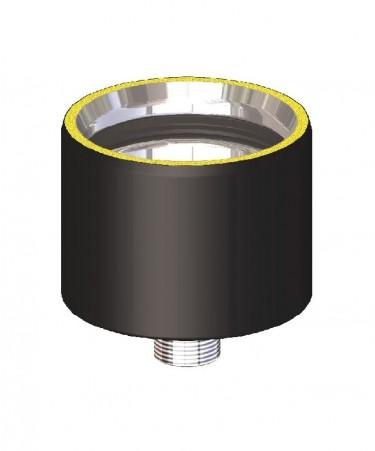 Canna fumaria coibentata acciaio nero - Tappo scarico condensa