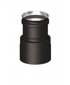 Canna fumaria coibentata acciaio nero - Giunzione doppia mono M/F