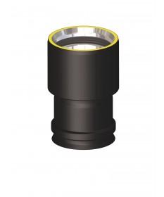 Canna fumaria coibentata acciaio nero - Raccordo caldaia F/F