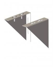 Canna fumaria coibentata acciaio - Coppia angolari per piastre