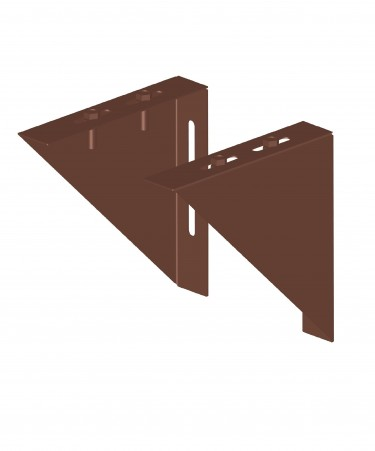 Canna fumaria coibentata acciaio marrone - Coppia angolari per piastre
