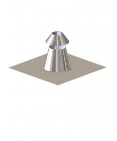 Canna fumaria coibentata acciaio - Faldale per tetto piano con scossalina regolabile