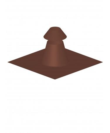 Canna fumaria coibentata acciaio marrone - Faldale per tetto piano con scossalina regolabile