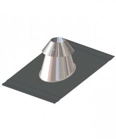 Canna fumaria coibentata acciaio - Faldale per tetto inclinato base piombo con scossalina regolabile