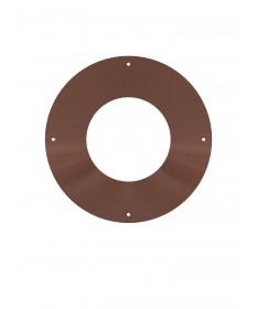 Canna fumaria coibentata acciaio marrone - Rosone piano