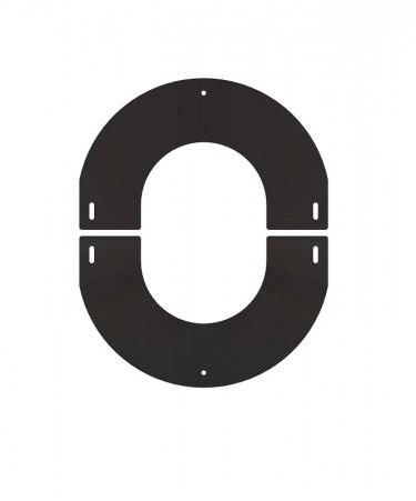 Canna fumaria coibentata acciaio nero - Rosone regolabile