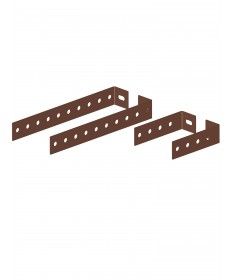 Canna fumaria coibentata acciaio marrone - Coppia di prolunghe per fascette murali