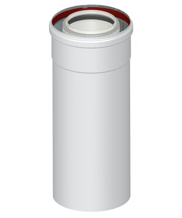 TUBO CANNA FUMARIA COASSIALE L.2000 M/F PER CALDAIA A CONDENSAZIONE
