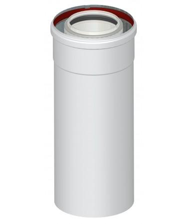 ELEMENTO DRITTO L.250 M/F - CANNA FUMARIA COASSIALE CALDAIA A CONDENSAZIONE