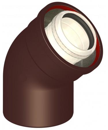CURVA 45° COASSIALE: CANNE FUMARIE PER CALDAIE A CONDENSAZIONE