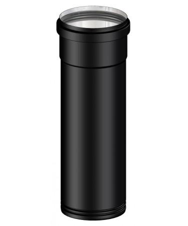 TUBO NERO CANNA FUMARIA L.250 M/F PER PELLET