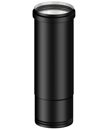 TUBO NERO TELESCOPICO CANNA FUMARIA L.250 M/F PER PELLET