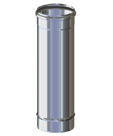 ELEMENTO DRITTO L.500 M/F: CANNA FUMARIA PER PELLET, LEGNA, GAS E GASOLIO