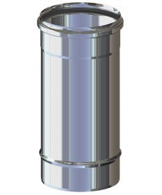 TUBO CANNA FUMARIA L.330 M/F ACCIAIO INOX MONO PARETE