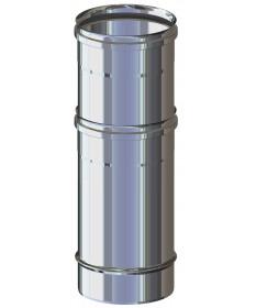 TUBO TELESCOPICO CANNA FUMARIA 245 ÷ 400 M/F ACCIAIO INOX MONO PARETE