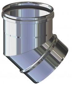 CURVA 45° M/F: CANNA FUMARIA INOX PER LEGNA, PELLET, GAS E GASOLIO