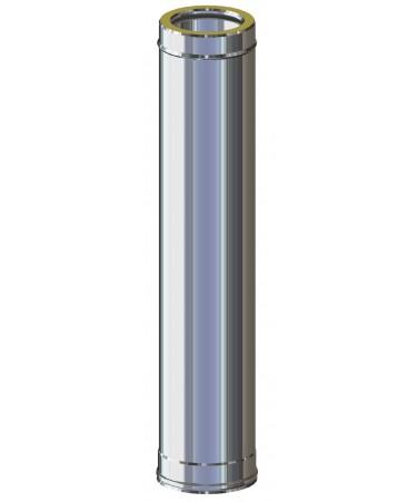 TUBO CANNA FUMARIA INOX/INOX PER GAS, GASOLIO, LEGNA E PELLET