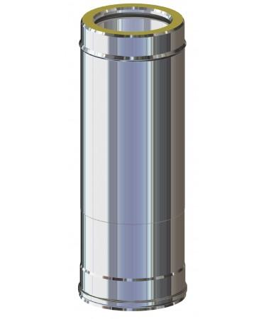 ELEMENTO TELESCOPICO 507 ÷ 884:  CANNA FUMARIA DOPPIA PARETE INOX PER LEGNA, PELLET, GAS, GASOLIO
