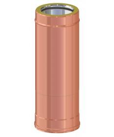 CANNA FUAMRIA TELESCOPICA IN RAME 507 ÷ 884: CANNA FUMARIA DOPPIA PARETE INOX-RAME PER LEGNA, PELLET, GAS E GASOLIO