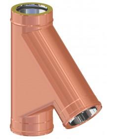 RACCORDO BRAGA 135°: CANNA FUMARIA DOPPIA PARETE INOX-RAME PER PER LEGNA, PELLET, GAS E GASOLIO