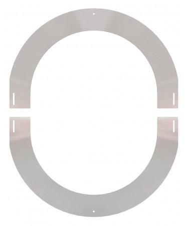 ROSONE REGOLABILE DA 0° A 30° INOX MICRO FIRESTOP PASSAGGIO A TETTO CANNA FUMARIA