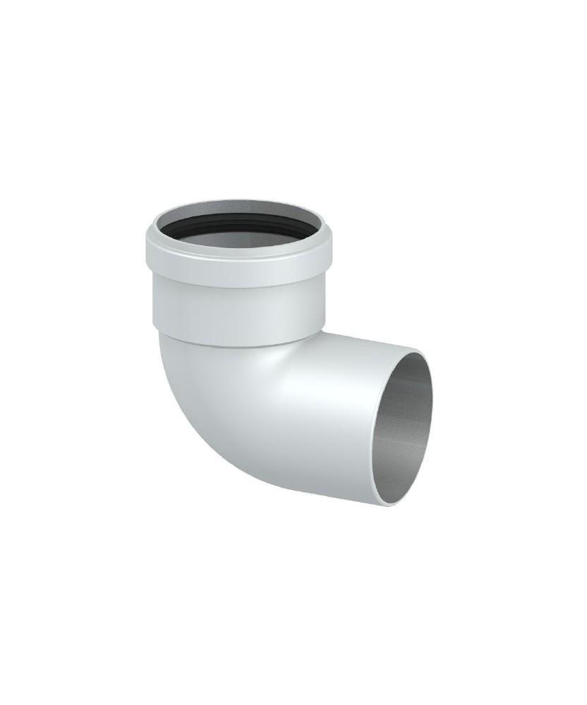 Tubi Aria Calda Stufa Pellet curva 90° tubo canalizzazione aria calda stufa o camino a legna pellet
