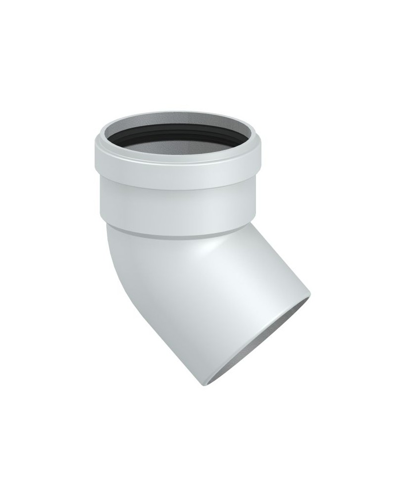 Tubi Aria Calda Stufa Pellet curva 45° tubo canalizzazione aria calda per stufe e camini a pellet o a  legna