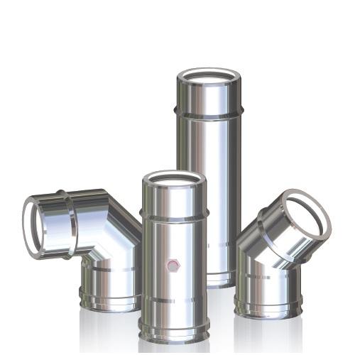 Canna fumaria doppia parete tubi caldaia condensazione gas gasolio plastica acciaio - Tubi per aspirazione cappa cucina ...
